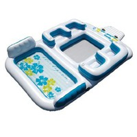 """New Giant Inflatable Floating Island 6 Person Raft Pool Lake Float 15`-8""""x 9`-4`: Sports & Outdoors"""