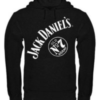Jack Daniel`s No 7 Mens Pullover Hooded Sweatshirt, Large: Home & Kitchen