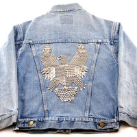 Vintage Eagle Studded Denim Jacket S/M/L by omcvintage on Etsy