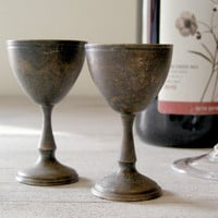 Miniature Copper Goblets Vintage tiny Goblets by MeshuMaSH on Etsy