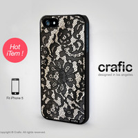 iPhone 5 Case - Lace Print iPhone 5 Case
