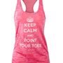 Amazon.com: Covet Dance Clothing - Keep Calm and Point Your Toes - Burnout Tank: Clothing