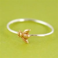 Bumble Bee Stacking Ring - Spiffing Jewelry