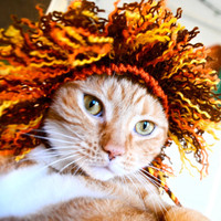 $15.00 Lion Costume  Cat or Dog by bitchknits on Etsy