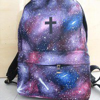 Unique Sparking The Universe The cross Backpack Bag