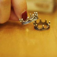 Vintage Bronze Color Crown Ring [487]