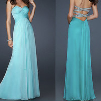 Glamorous A-line Elegant chiffon prom dress/Graduation Dresses
