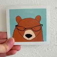 Bear Funny Magnet 60s Retro Inspired by SimplyCutebyKarin on Etsy