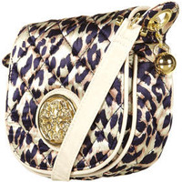 Satin Quilted Cross Body Bag 