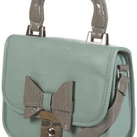 Mint Lady Stud Bow Bag 