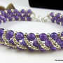 Amethyst Bracelet with Handcrafted Silver Clasp