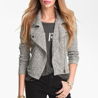 Fire Boucl Biker Jacket (Juniors) | Nordstrom