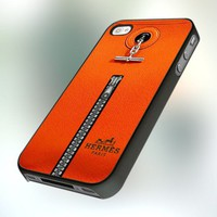 PCFA3 Hermes Orange Bag Inspired Design For IPhone 4 or 4S Case