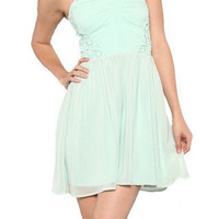 This Kiss Sweetheart Dress - Mint -  $52.00 | Daily Chic Dresses | International Shipping