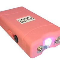 POLICE 7,800,000 V Stun Gun VC w/ Flashlight (Pink): Sports &amp; Outdoors