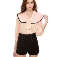 Cute Blush Pink Top - Office Top - $36.00