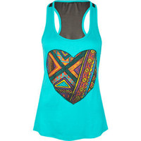 FULL TILT Ethnic Heart Womens Tank 194927512 | tanks | Tillys.com