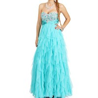 Cinderella- Seafoam Prom Dress