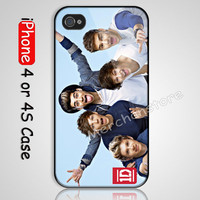 One direction HOT GUYS Custom iPhone 4 or 4S Case Cover