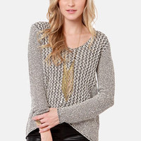 Static Fling Black and White Sweater