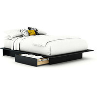 South Shore SoHo Full/Queen Storage Platform Bed, Black