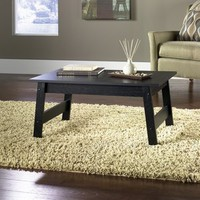 Mainstays Coffee Table, Black Oak Finish