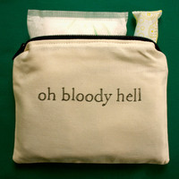 INdiscreet Zip Pouch for Tampons Menstrual Pads by dreadfulgirl