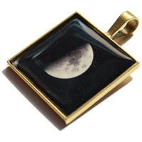 Steampunk Dark Moon Gothic Photo Pendant by HConwayPhotography