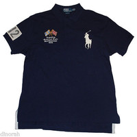 NWT Ralph Lauren Men Big Pony Argentina Track &amp; Field Polo Shirt $145