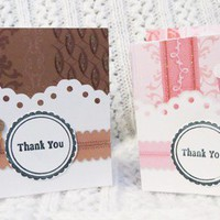 Chocolate and Strawberry Mini  Thank You Cards set of 15