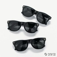 Black Nomad Sunglasses, Costumes & Accessories, Novelty Sunglasses - Oriental Trading