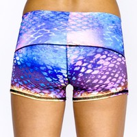 Teeki - Designer Active Wear - Sun Short Mermaid - Extra Small