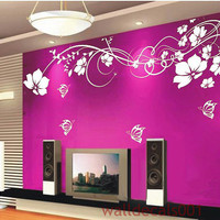 Vinyl Wall Decal Flower decal butterfly decal by walldecals001