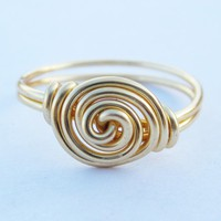 Gold Rosette Ring | Luulla