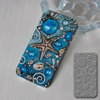 iPhone4S-4G Colorful Blue Sea Protective Shell Case - GULLEITRUSTMART.COM