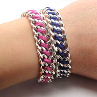 Twister Bracelet Designer Bracelet with Silver by GetShackled