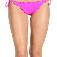 Vitamin A Silver Swimwear Rio Ruffle Tie Side Bottom at Zappos.com