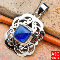 "RARE KYANITE 925 STERLING SILVER PENDANT 1 5/8"" JEWELRY"