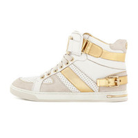 MICHAEL Michael Kors Fulton Metallic High-Top Sneaker - Michael Kors