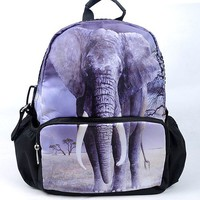 3D Elephant Animal Backpack Cute Schoolbag