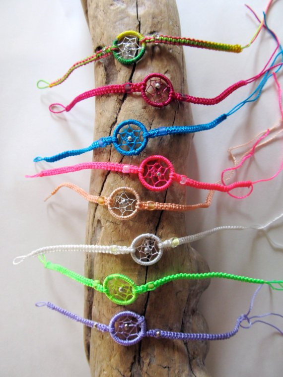 SALE Dream Catcher Friendship Bracelet by PaolaLoves2Shop on Etsy