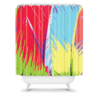 DENY Designs Home Accessories | Rosie Brown Rainbow Palms Shower Curtain