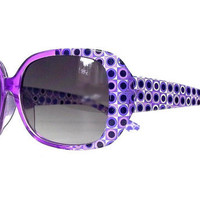 Purple Oversized Vintage Sunglasses, Deadstock Eyeglasses, 1970s, Glamorous