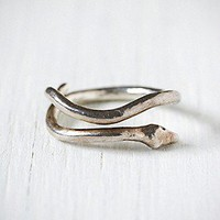 e.m. noir  Silver Snake Ring at Free People Clothing Boutique