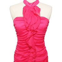 Flourish Boutique-Pink ruffle top