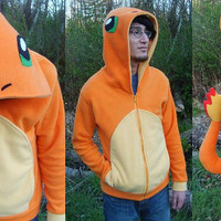 Charmander Pokemon Hoodie by aprikotDIY on Etsy