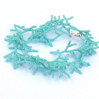 Mint Bracelet. Beadwork. Beaded Handmade Jewelry