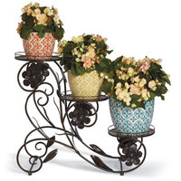 Blooming Flower Pot Stands and Kelly Planters