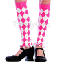 Hot Pink White Harlequin Diamond Valentine by TrendyGirlzCouture