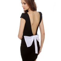 Little Black Dress - Body Con Dress - Backless Dress - $35.50